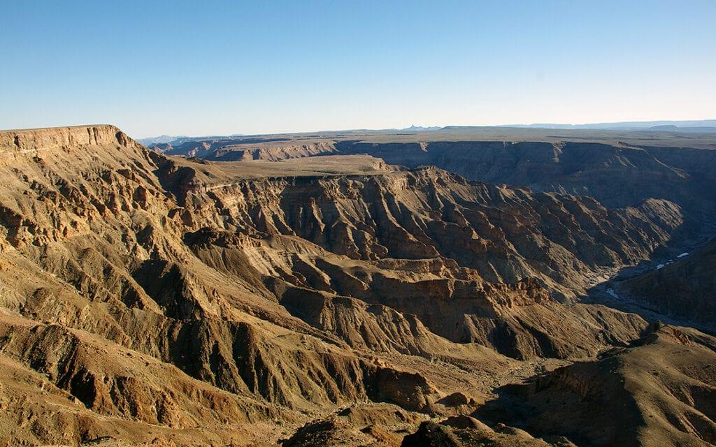 Fotoboek motorreis Avontuurlijk Afrika, Fish River Canyon in Namibie