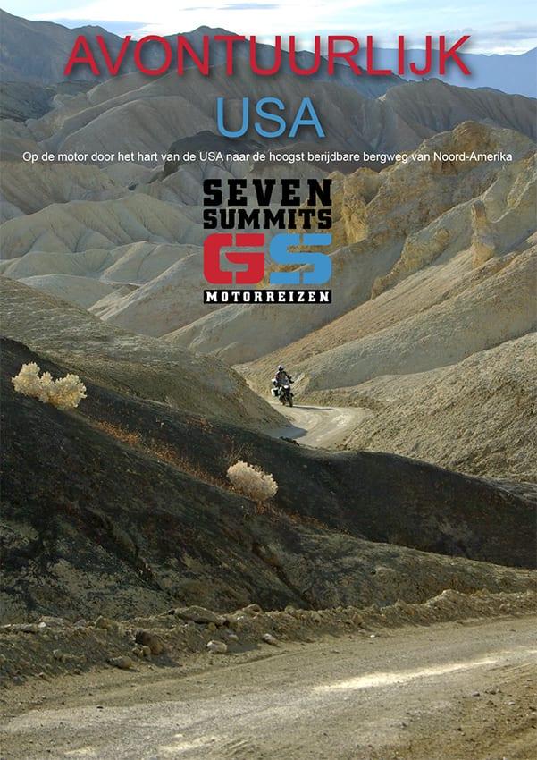 Donload de brochure van de avontuurlijke motorreis door de USA van Seven Summits GS Motorreizen