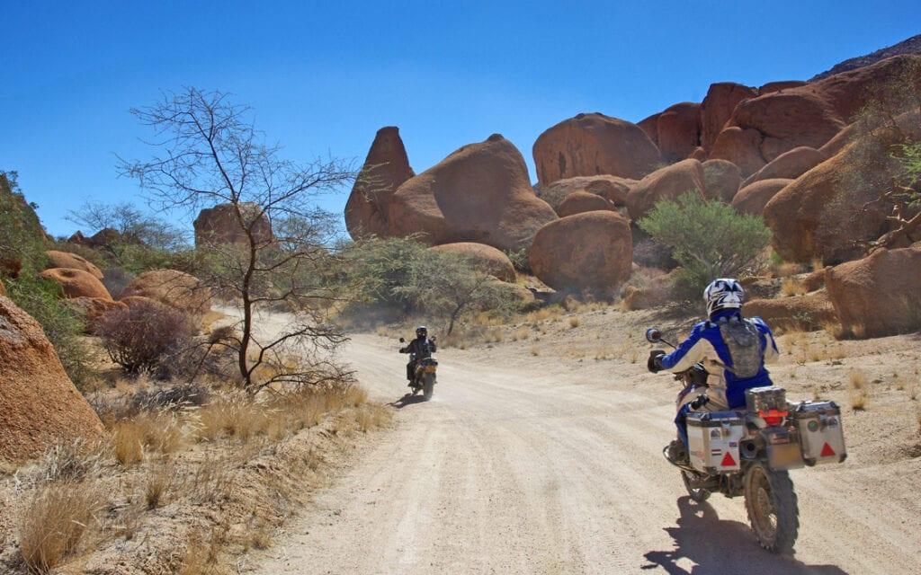 Fotoboek motorreis avontuurlijk Afrika Spitzkoppe Nambie